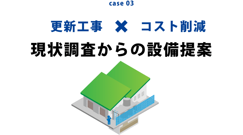 case03 更新工事×コスト削減 現状調査からの設備提案